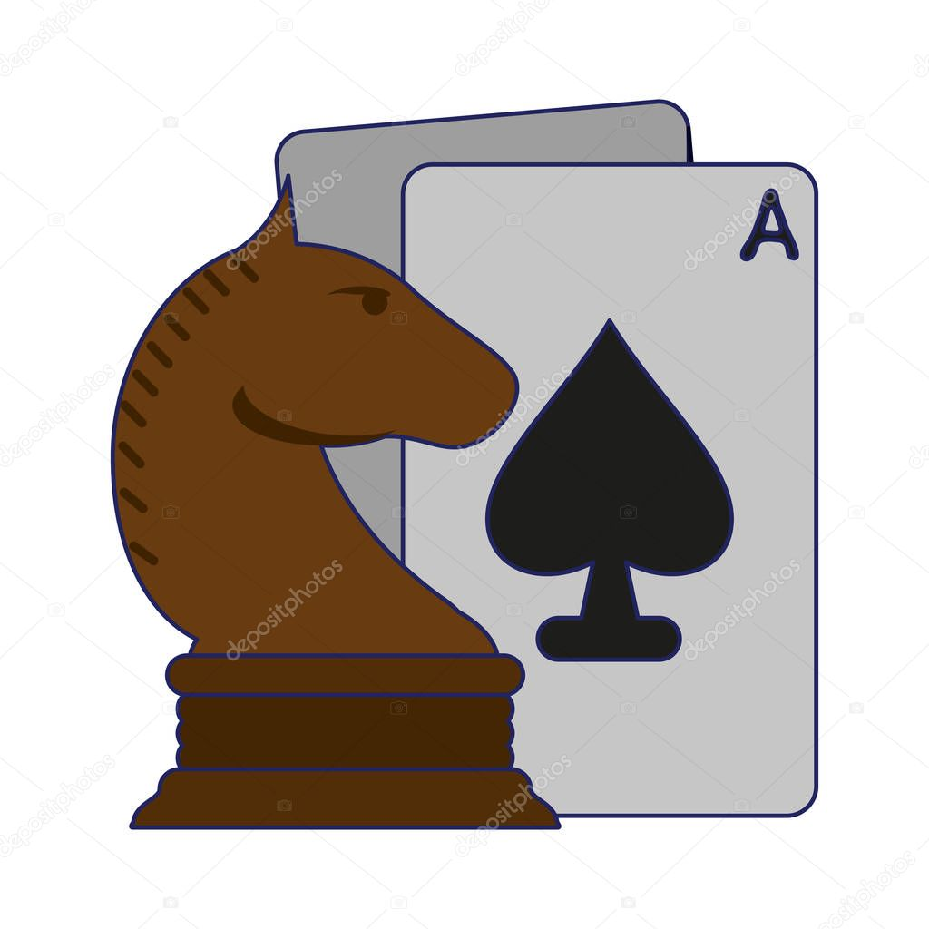 Chess Horse Piece And Leisure Cards Vector Illustration Graphic Design Premium Vector In Adobe Illustrator Ai Ai Format Encapsulated Postscript Eps Eps Format