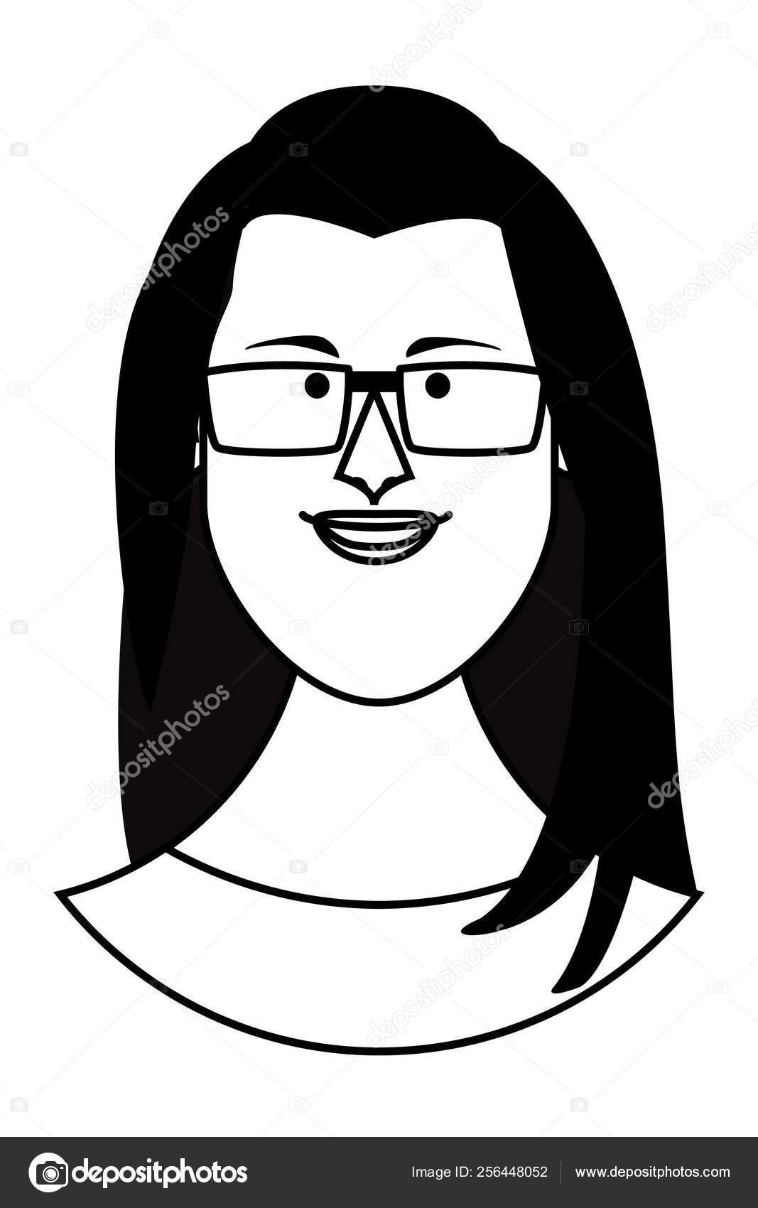 Desenho De Rosto De Mulher Em Preto E Branco Vetores De Stock