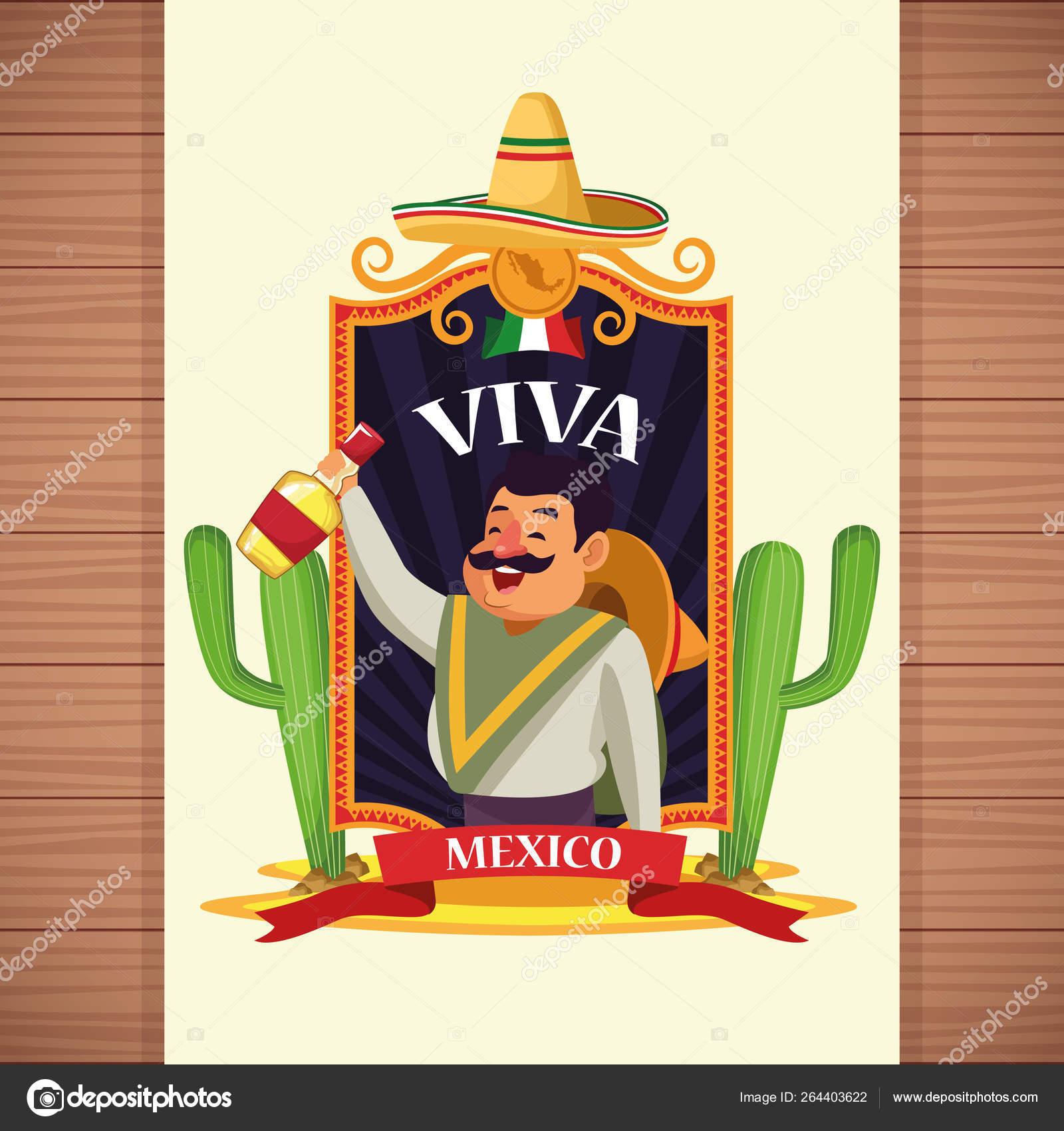 Viva Mexico Cartoons Stock Vector C Jemastock 264403622