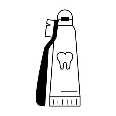 Dental care health and hygiene black and white