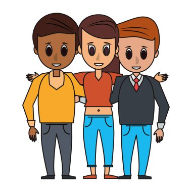Friends people cartoon