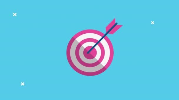 cél és nyíl siker animált