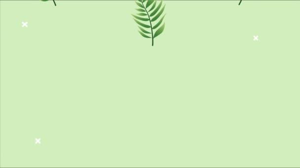 Zweig mit Blättern im Hintergrund animiert