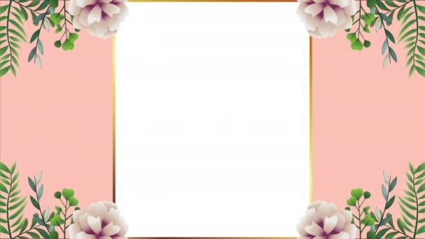 beautiful floral decoration in frame with white roses