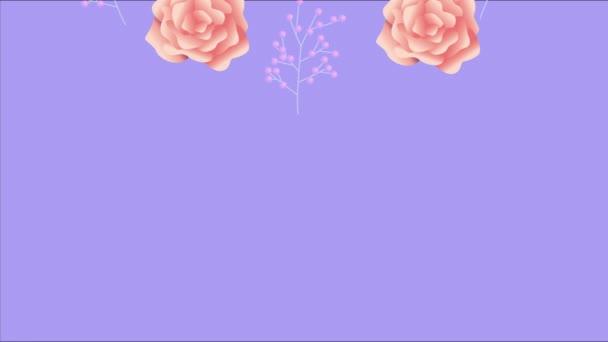 krásná květinová dekorace s růžové růže vzor