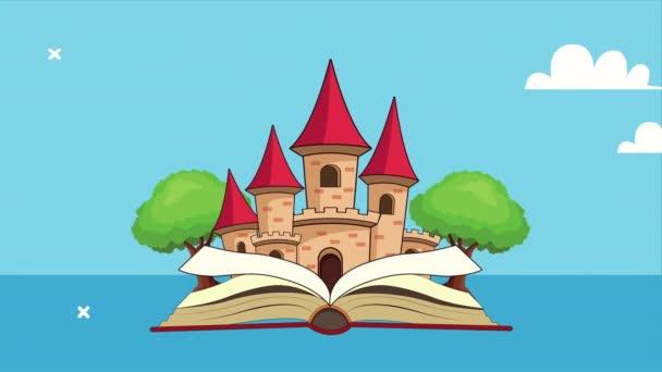 pohádková pohádka s animací scény na zámku