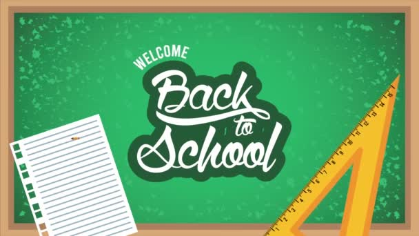 Vissza az iskolába időbeosztás táblával és felszereléssel