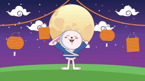půlka podzimního festivalu animace s králíky a lampami