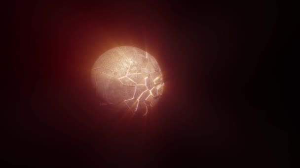the explosion of the planet moon render 3d