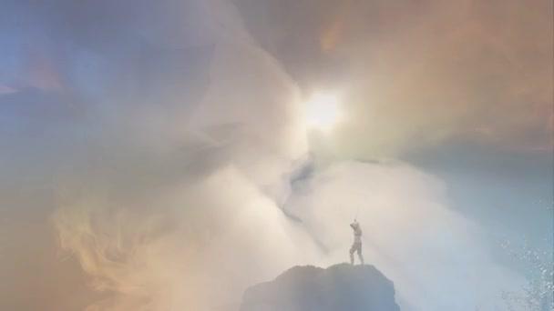 rytíř bojový drak, drak versus muž 3d vykreslení