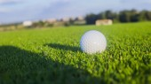 Fotografie Golf course with ball on background