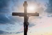 Fotografie 3D obrázek Ježíše Krista na kříži, 3d vykreslování