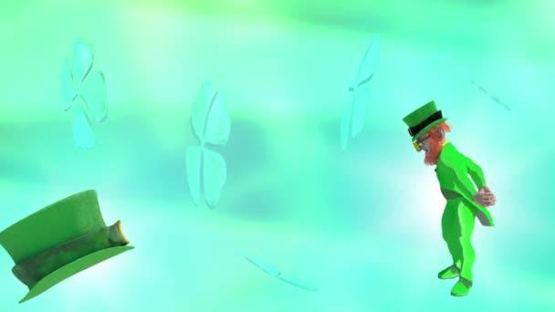 Sada svatého Patrika symboly vykreslení 3d pozadí