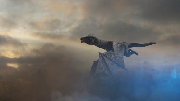 a sárkány repülni 3D render