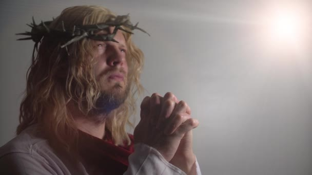 Jesus Christ with crown of thorns portrait