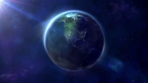 Zeměkoule je osvětlené poloviny a v noci