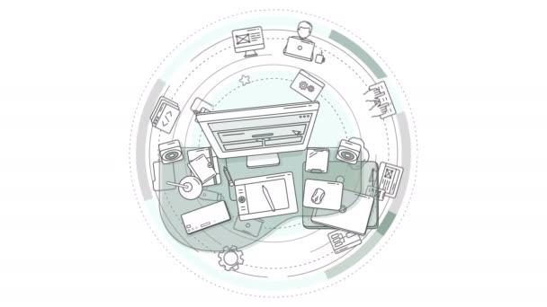 Tvůrčí animace návrháře webu