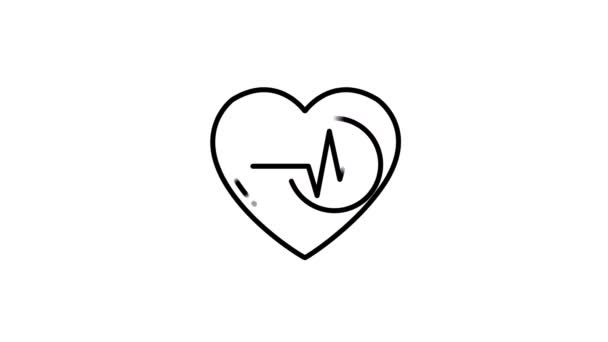 Heart Rate line icon on the Alpha Channel