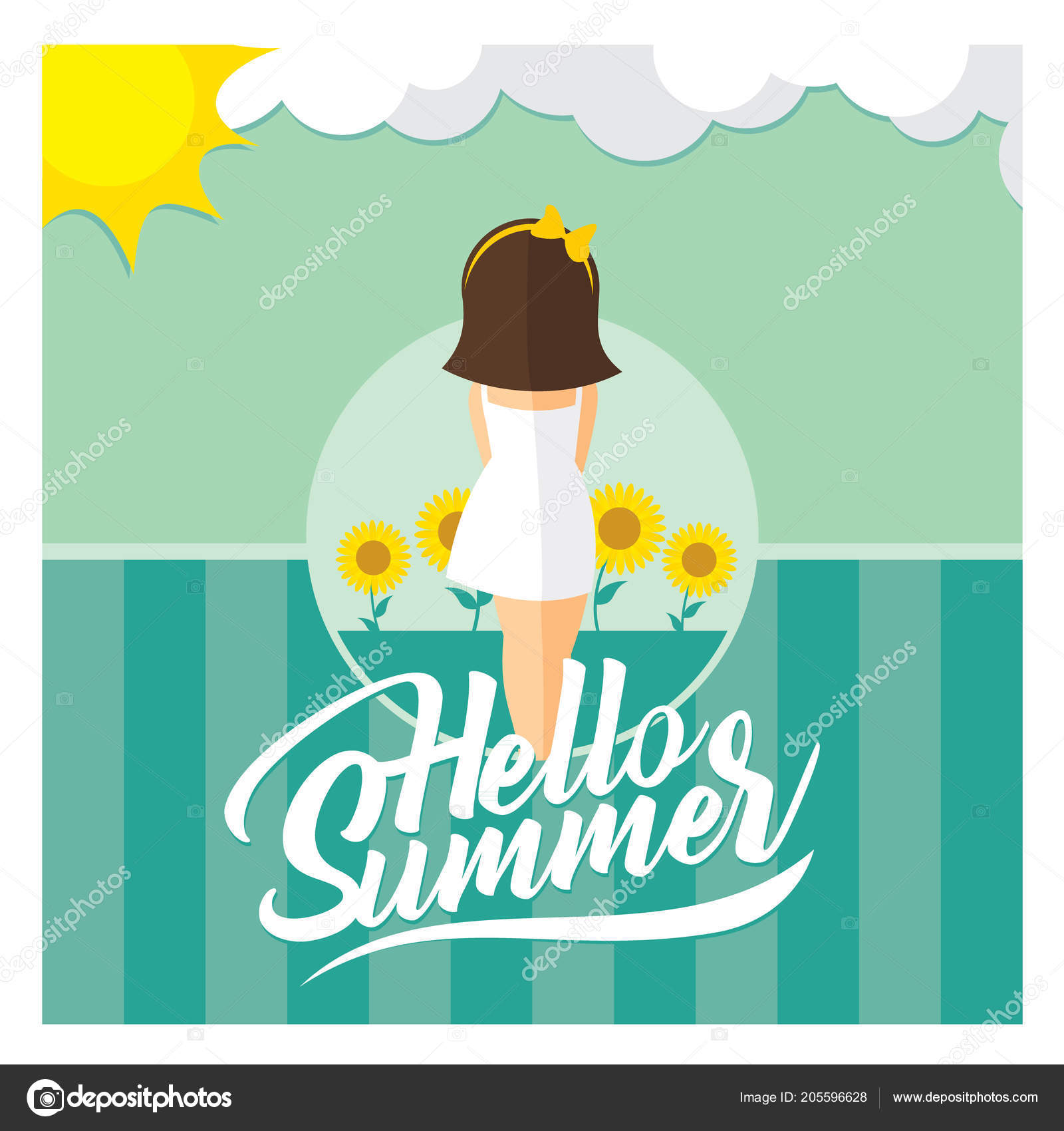 Vector Background Template Design Summer Themes Stock Vector