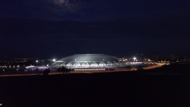 Samara, Rusko - Jun, 2018: noční pohled na stadionu Samara Arena, dokončení před světa ve fotbale 2018