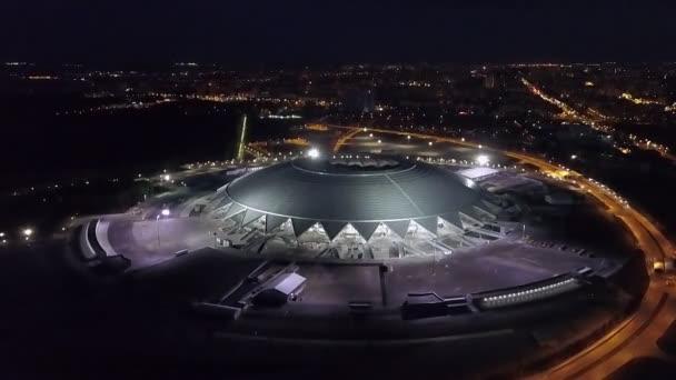 Samara, Rusko - Jun, 2018: noční ptáci oko pohled panorama Samara arény, světa ve fotbale 2018