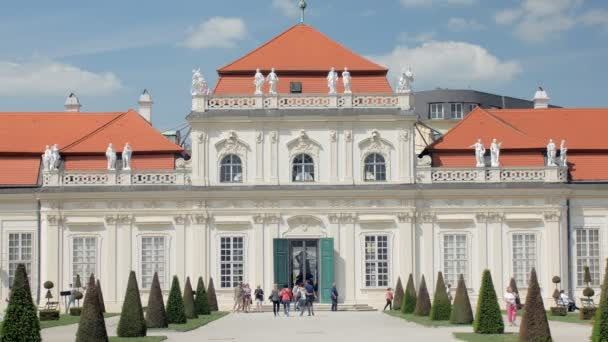 amazing beautiful facade of austrian Belvedere palace in baroque architectural style