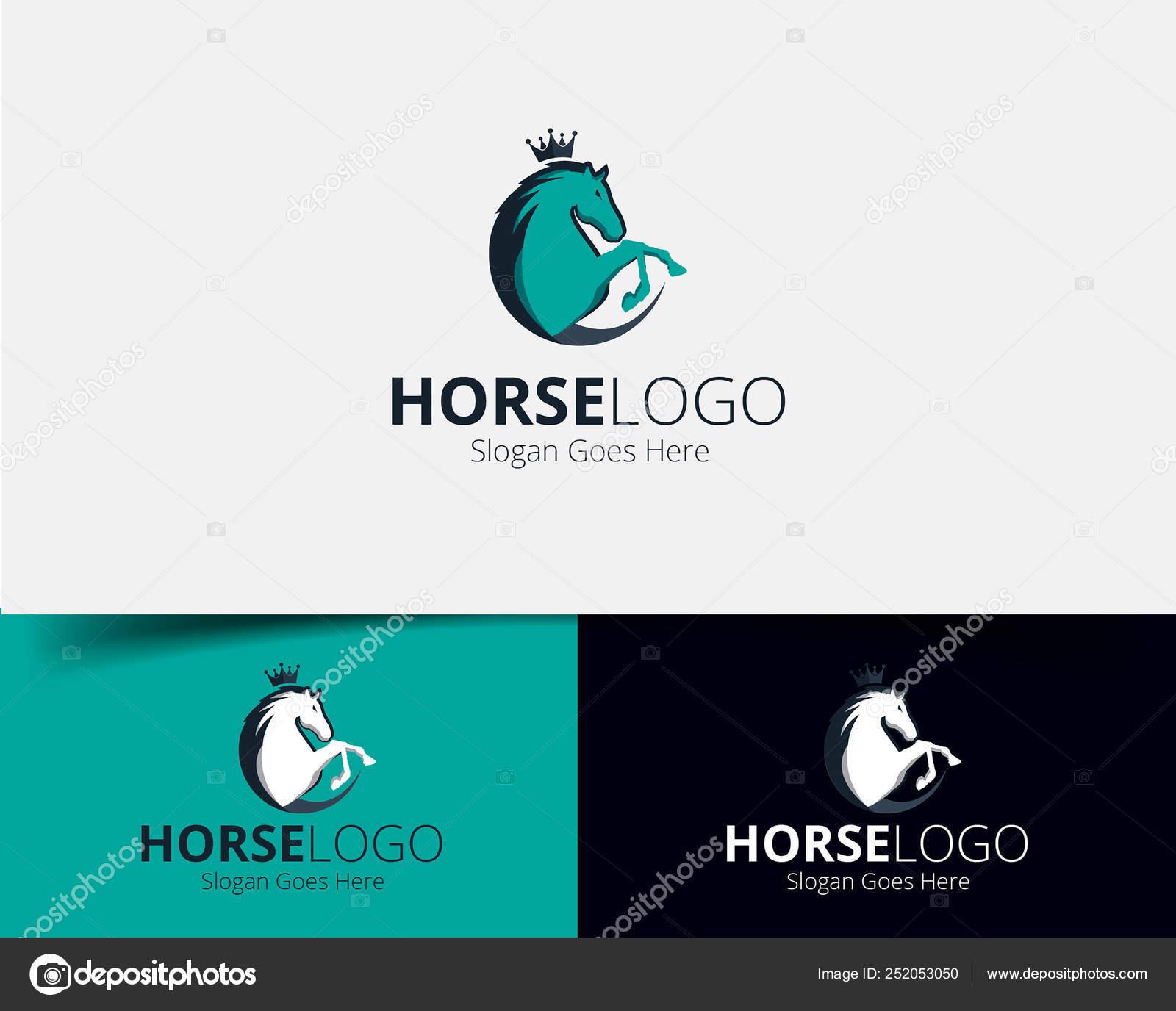 Horse Logo Design Abstract Stock Vector C Mfbtasarim 252053050