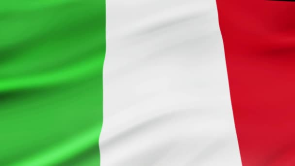 Italy flag waving in wind video footage  Realistic Italy Flag background. Italy Flag Looping Closeup