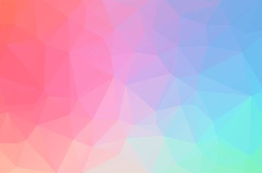 Light soft color pink purple and blue Low poly crystal background. Polygon design pattern. Low poly vector illustration, low polygon background.