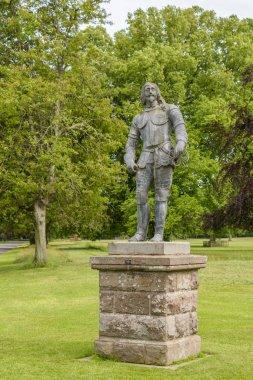 Statue of King Charles I (1600-1649) at Glamis Castle, Angus, Scotland