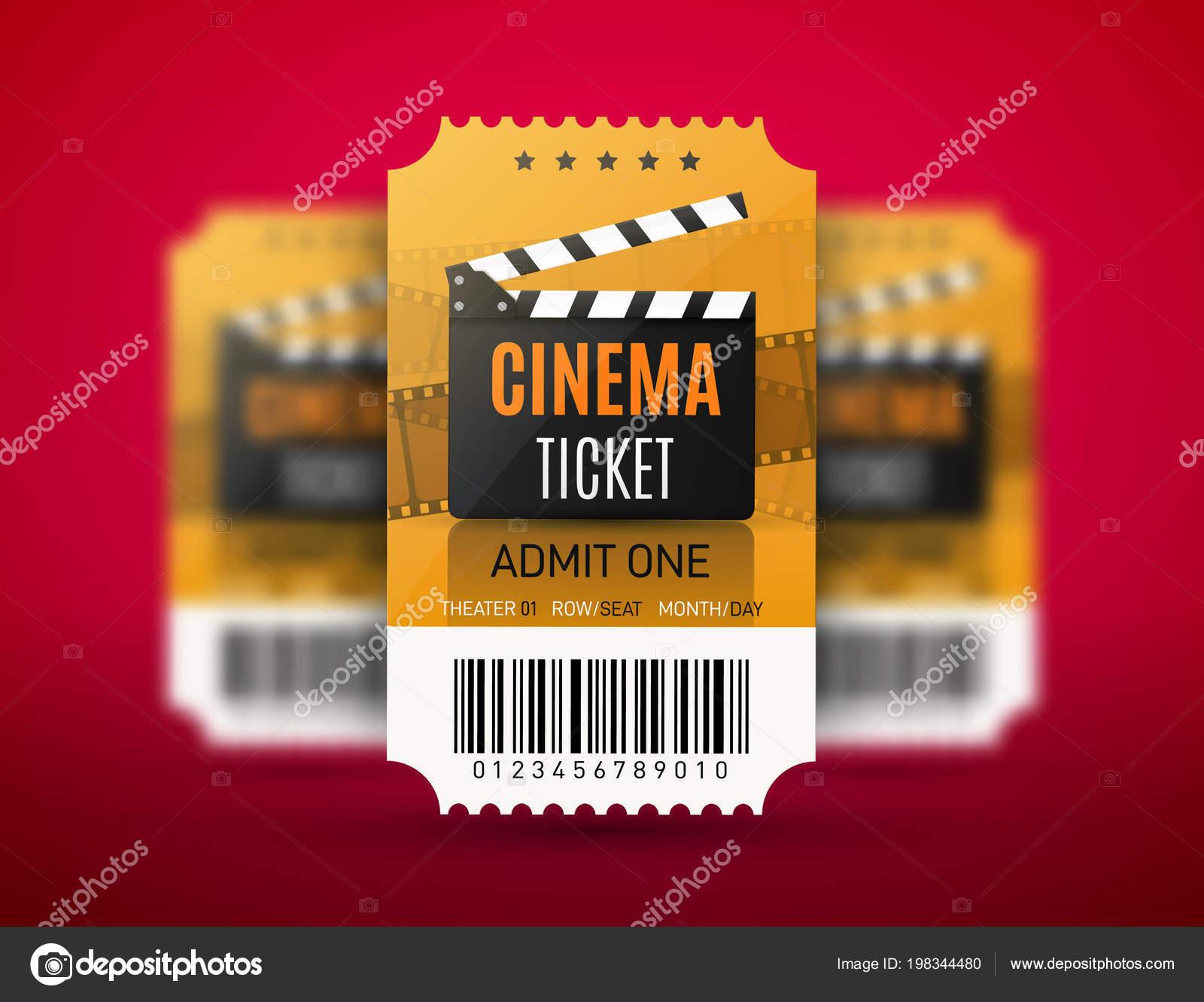 Movie Cinema Premiere Poster Or Flyer Design Vector Cinema Tickets