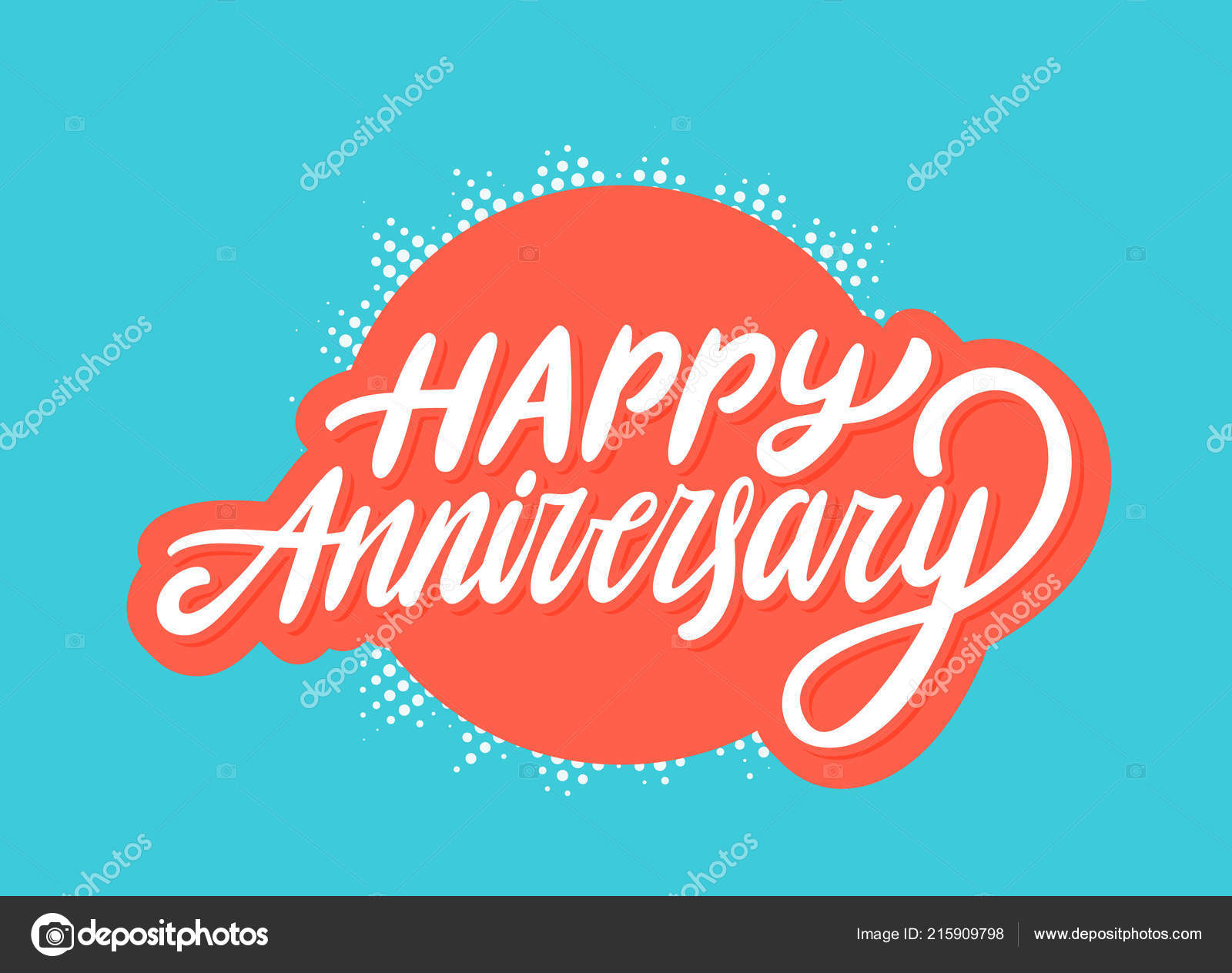 Happy Anniversary Greeting Card Stock Vector Alexgorka 215909798