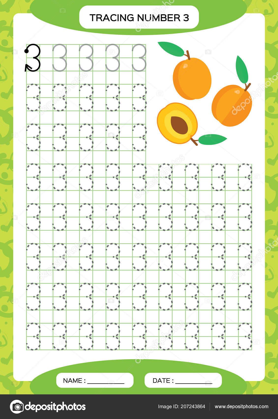 Number three tracing worksheet orange peach fruit preschool number three tracing worksheet orange peach fruit preschool worksheet practicing stock vector ibookread ePUb