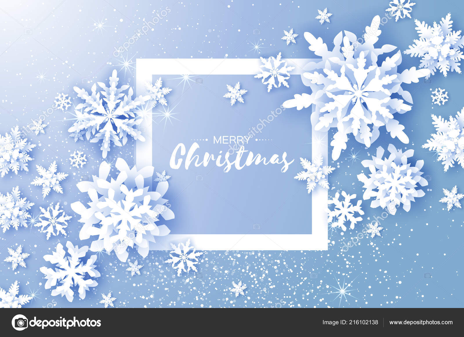 Merry Christmas Happy New Year Greetings Card White Paper Cut