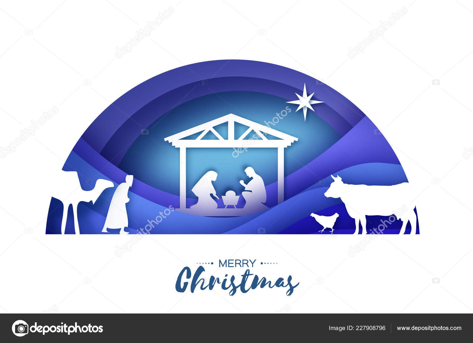 birth christ baby jesus manger holy family magi three wise stock