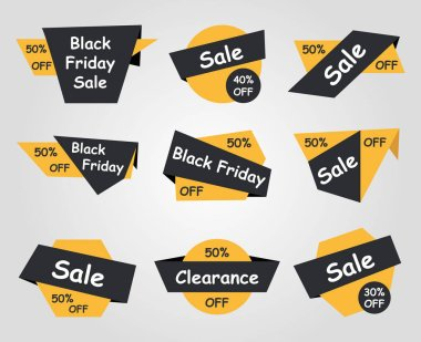Black Friday sale labels - different type stickers