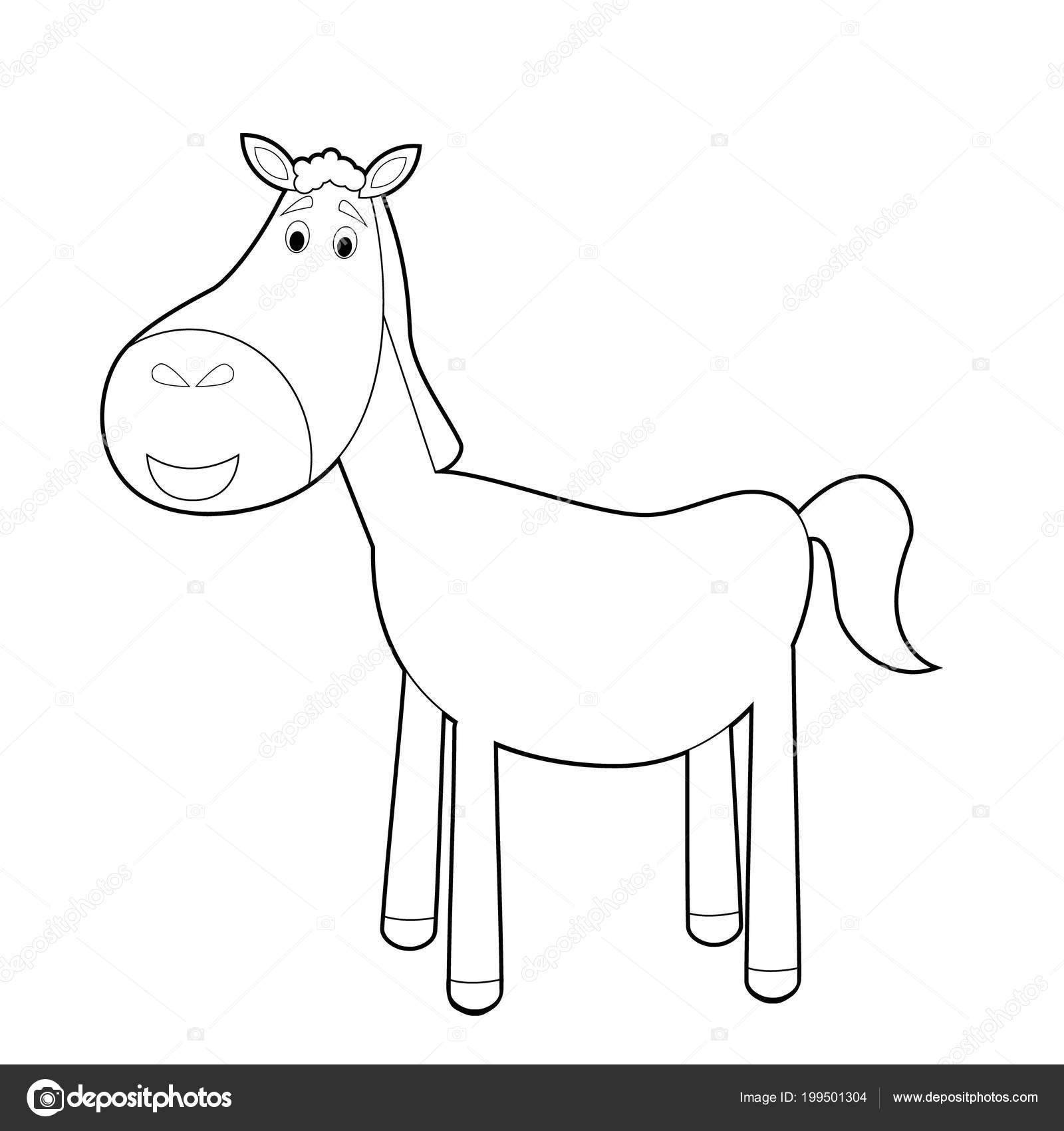 Kolay Hayvan çizimleri Küçük çocuklar Için Boyama Stok Vektör