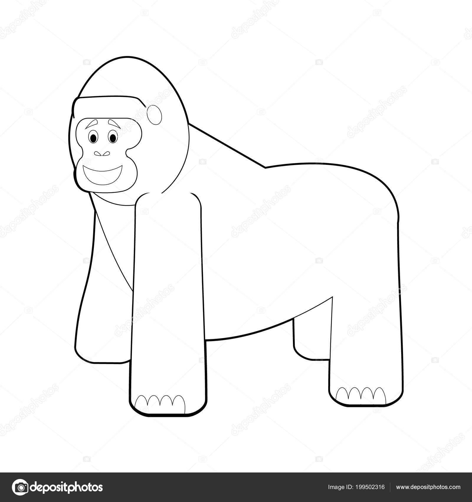 Disegni Da Gorilla Facile Colorare Disegni Animali Bambini