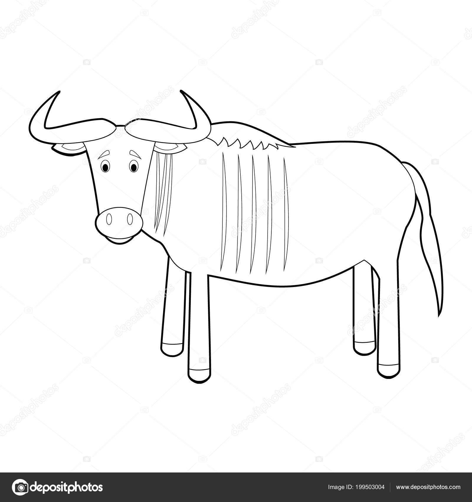 Fácil Para Colorear Dibujos Animales Para Niños Vector De