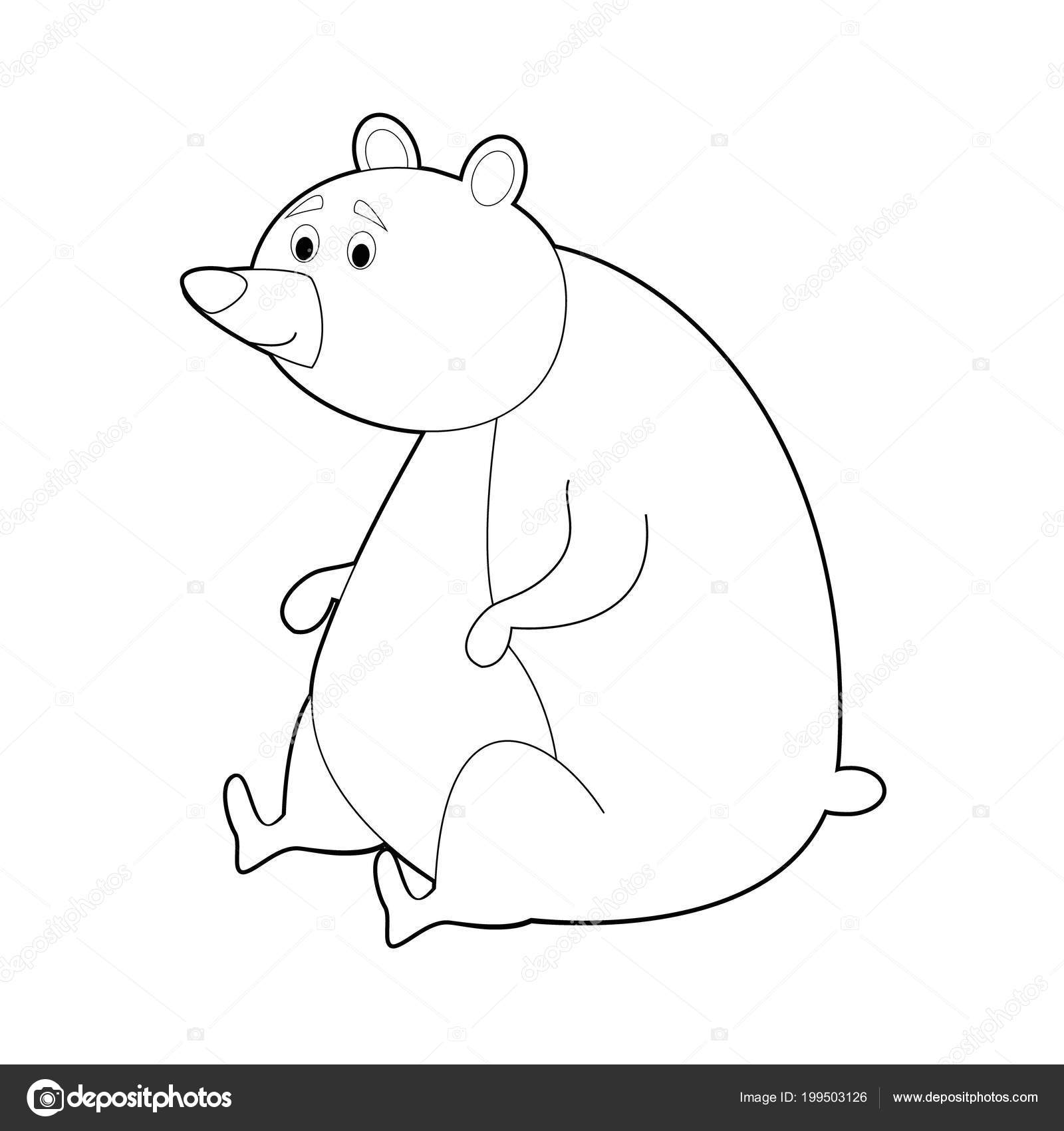 Vettore Orsetto Disegno Facile Facile Colorare Disegni Animali