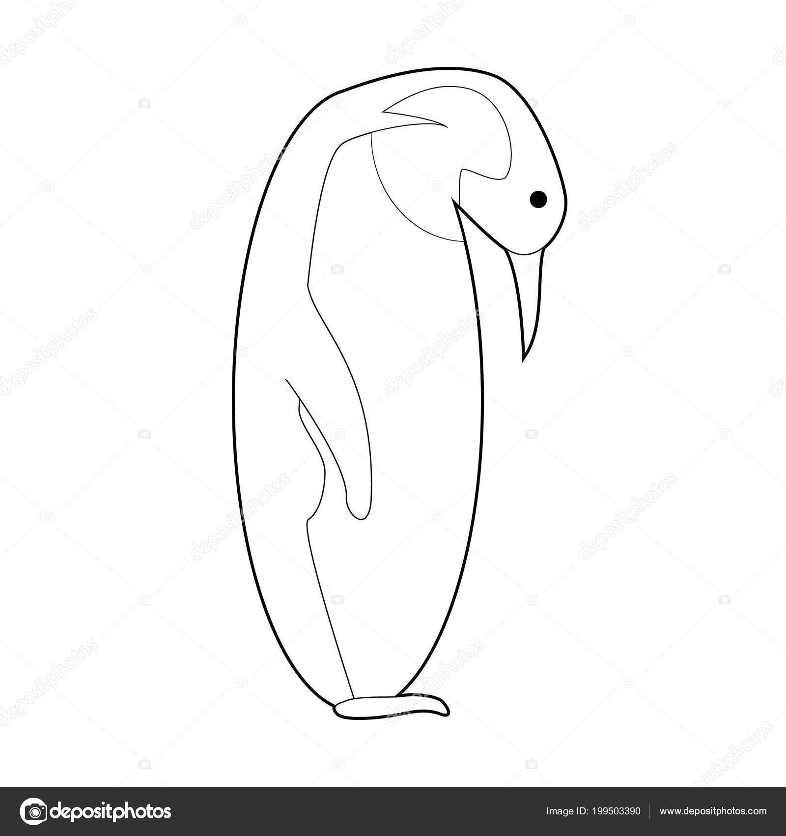 Kolay Hayvan çizimleri Küçük çocuklar Için Boyama Imparator Penguen