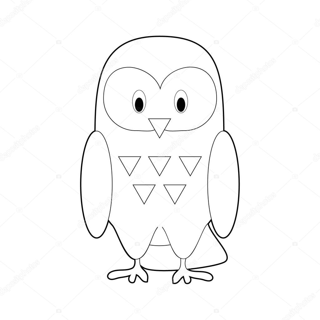 ✓ Easy Coloring drawings of animals for little kids Snowy Owl ...