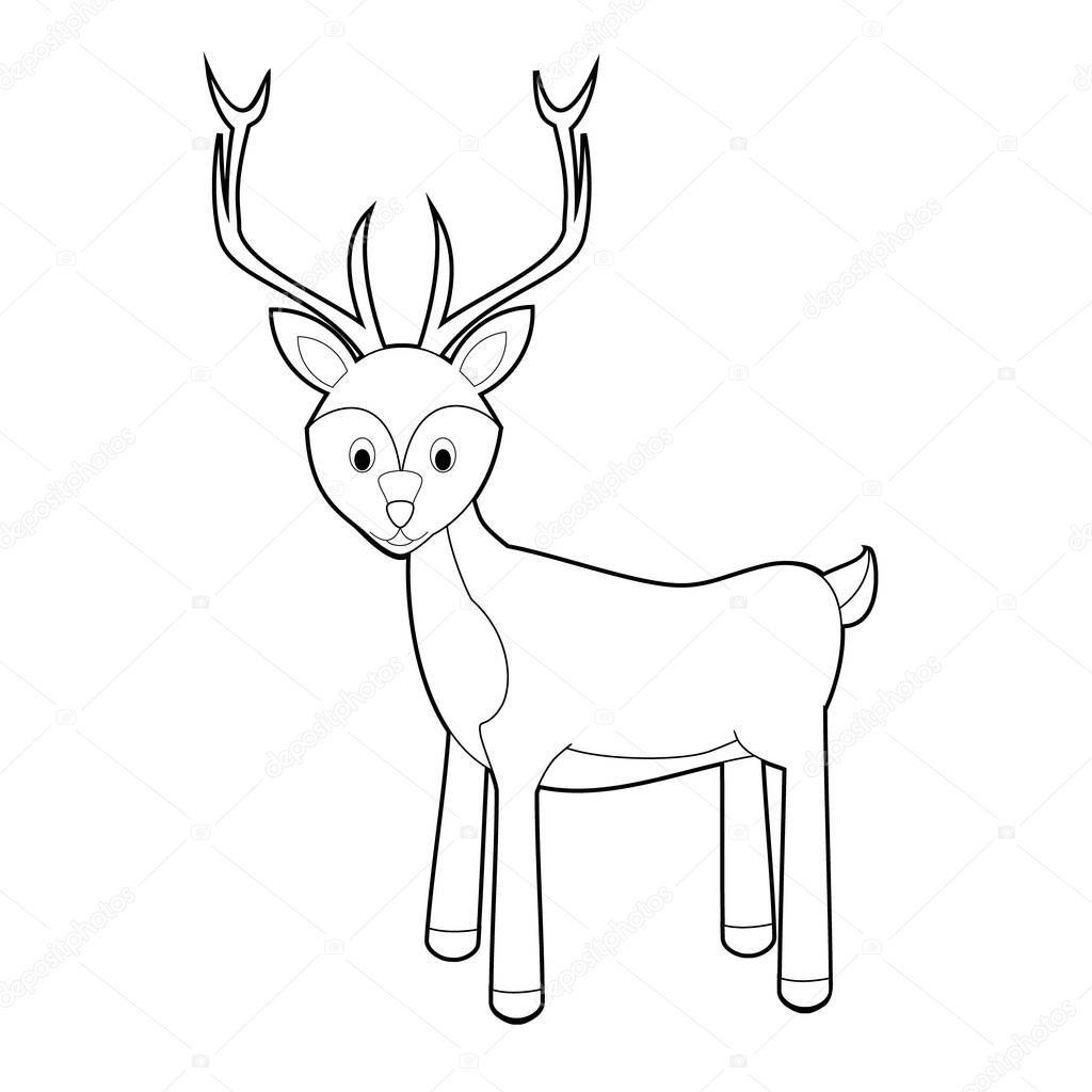 Kolay Hayvan çizimleri Küçük çocuklar Için Boyama Geyik Stok