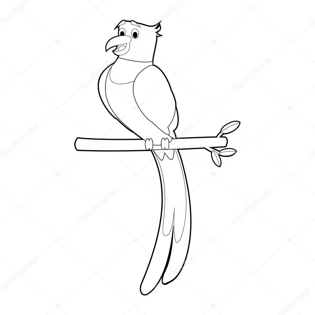 Easy Coloring Drawings Of Animals For Little Kids Quetzal Premium Vector In Adobe Illustrator Ai Ai Format Encapsulated Postscript Eps Eps Format