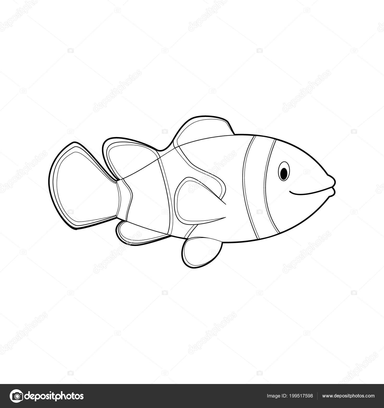 Imagenes De Facil Para Colorear Dibujos Animales Para Ninos Pez