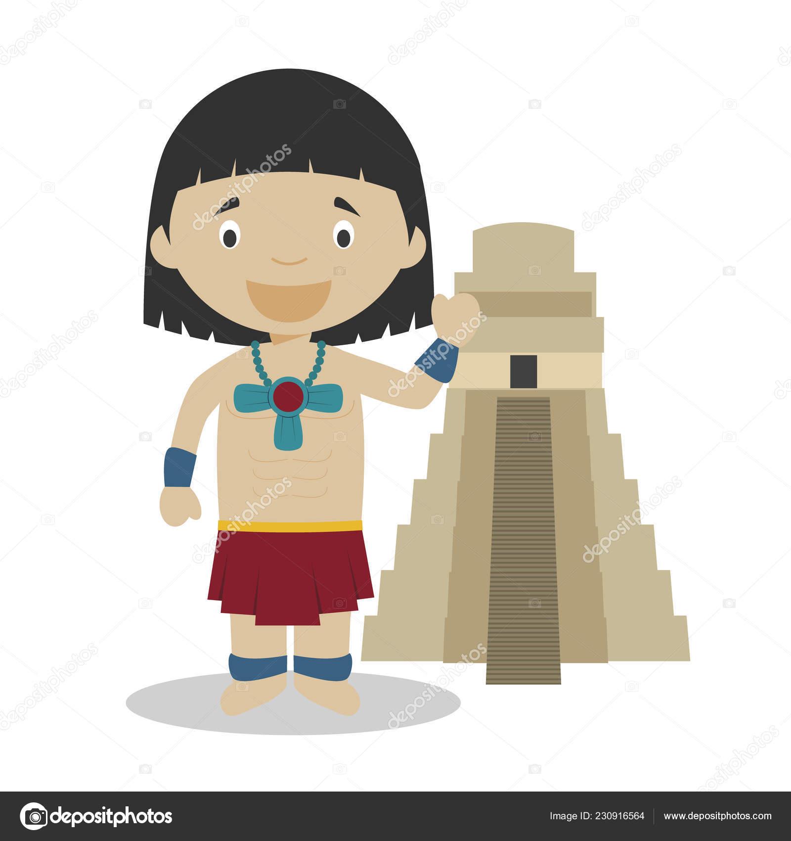 Dibujo Cara Indigenas Mayas Animados Wwwimagenesmycom