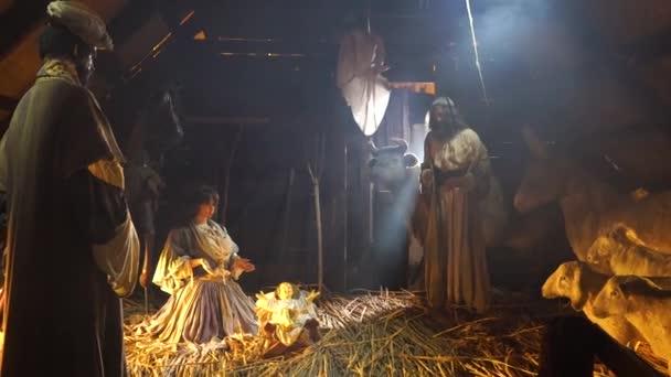 Narození Ježíše Krista v stabilní vánoční Scene