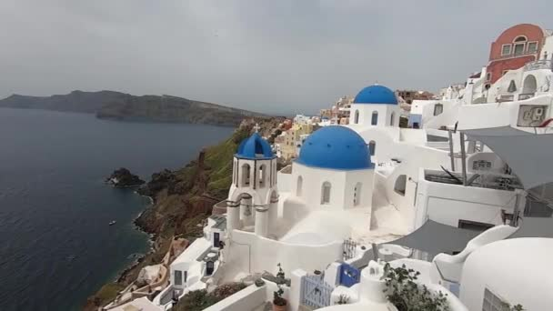 View of the Greek Orthodox Blue Dome Church in Oia