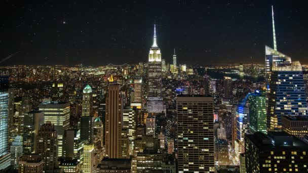 Timelapse z centra Manhattanu v New Yorku za soumraku