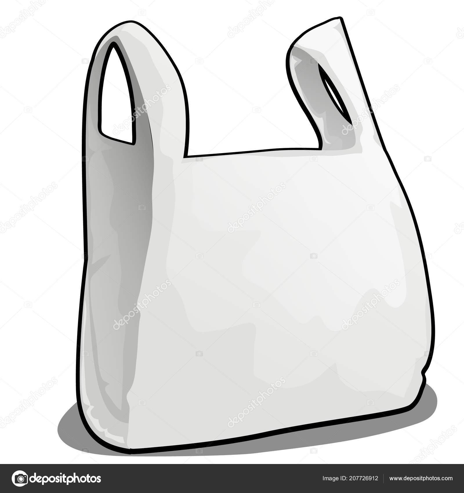 Una Bolsa De Plástico De Color Blanco Aislado Sobre Fondo Blanco